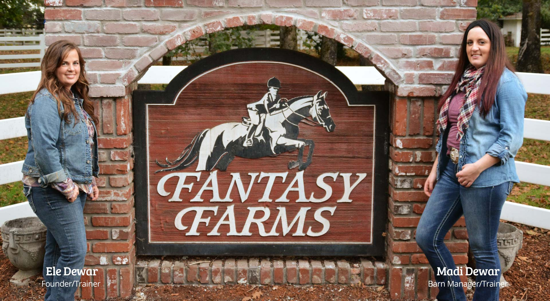 Ele Dewar and Madi Dewar standing in front of Fantasy Farms in Turner Oregon
